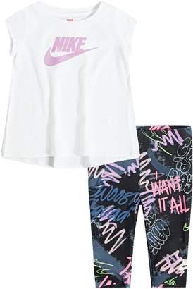 Nike BABY GIRL TEE AND CAPRI LEGGING SET