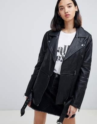 Urban Code Urbancode Briar twofer longline multiway biker jacket