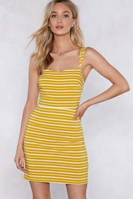 Nasty Gal Your Heart is in the Stripe Place Mini Dress