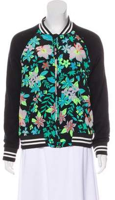 Lovers + Friends Floral Bomber Jacket