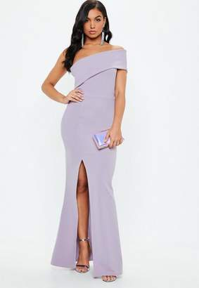 Missguided Lilac One Shoulder Maxi Dress