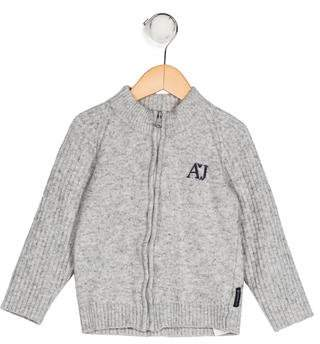 Armani Junior Boys' Knit Zip-Up Cardigan