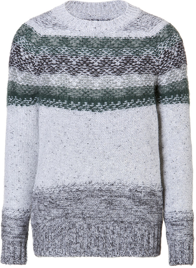 Closed Wool Pullover in Deep Forest