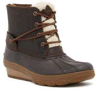 Sperry Saltwater Tide Genuine Sheep Shearling Trim Wedge Boot