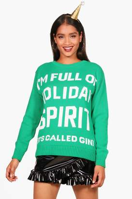 boohoo Holiday Spirit Christmas Jumper