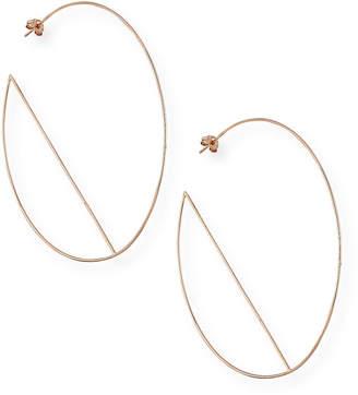 Lana 14k Diagonal Wire Hoop Earrings