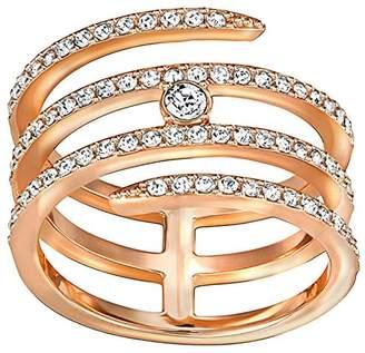 Swarovski Women's Ring Creativity Coiled Crystal Transparent 5191923 Size 55 (17.5)