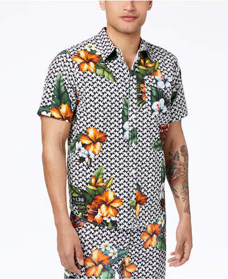 Lrg Men's Descendent Floral-Print Shirt