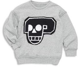 Nununu Baby Boy's, Little Boy's & Boy's Skull Robot Patch Sweatshirt