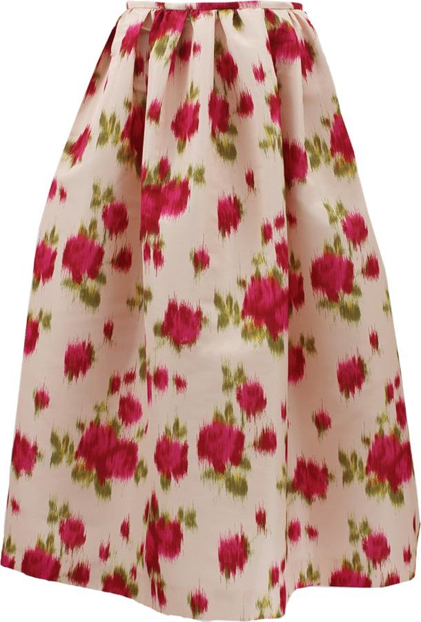 Michael Kors Faille High Waist Ball Skirt