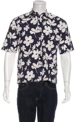 Marni Floral Print Short Sleeve Shirt