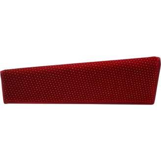 32d99e27da9eb Christian Louboutin Red Velvet Clutch Bag