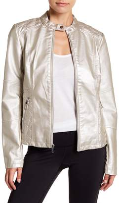 Warrior by Danica Patrick Active Faux Leather Moto Jacket