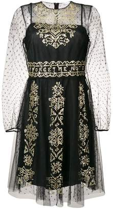 RED Valentino semi-sheer embellished dress