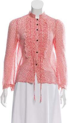 Marc by Marc Jacobs Silk Frill Blouse