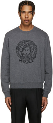 Versace Underwear Grey Medusa Head Pullover $425 thestylecure.com