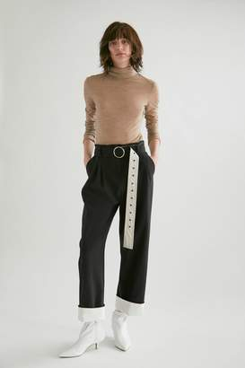 Yigal Azrouel High Waisted Double Pleat Pants