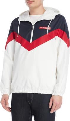 Members Only Quarter-Zip Color Block Jacket
