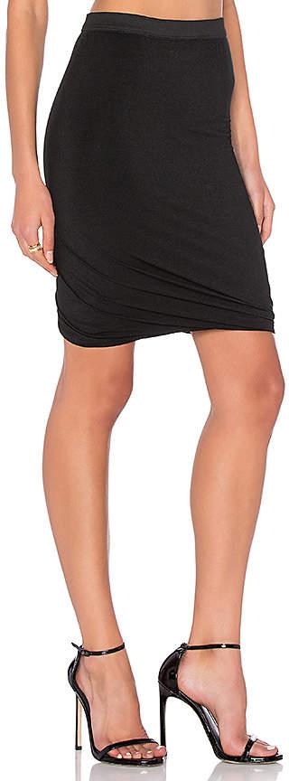 Alexander Wang Marled Drape Jersey Skirt
