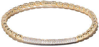 David Yurman 18kt yellow gold Petite Pavé cable flex diamond bangle