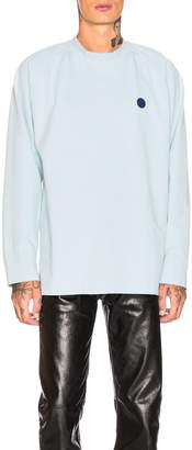 Acne Studios Bla Konst Oversized Long Sleeve Tee in Light Blue | FWRD