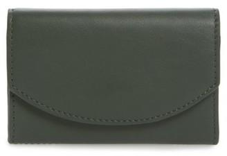 Women's Skagen Leather Card Case - Green $45 thestylecure.com