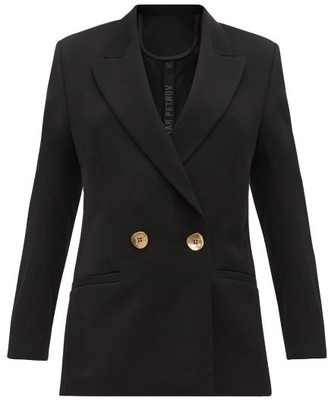Petar Petrov Jeffrey Double Breasted Wool Twill Blazer - Womens - Black