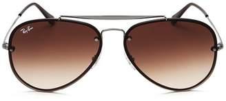 Ray-Ban Women's Blaze Brow Bar Aviator Sunglasses, 61mm
