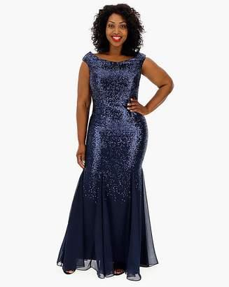 0da094eec5fe Navy Sequin Maxi Dress - ShopStyle UK