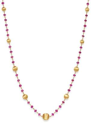 Marco Bicego 18K Yellow Gold Africa Precious Ruby Beaded Station Necklace, 18""