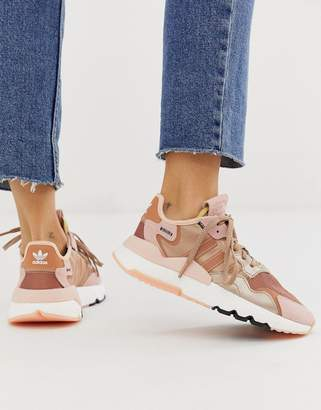 adidas Nite Jogger trainer in rose gold