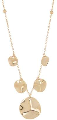 Argentovivo 18K Gold Plated Sterling Silver Flat Disc Drop Necklace