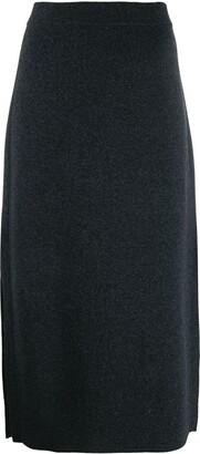 Pringle side slit knitted skirt