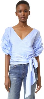 MLM LABEL Salo Wrap Shirt $220 thestylecure.com