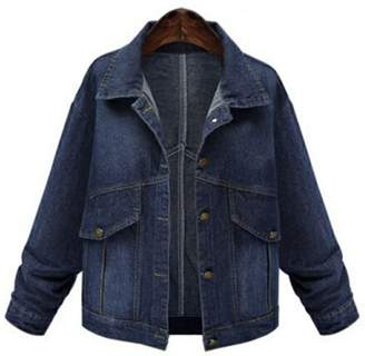 1a4398517eff4 LifeShe Women s Plus Size Denim Jacket Coat L-4XL ( ...