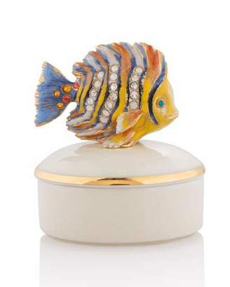 Jay Strongwater Fish Porcelain Box