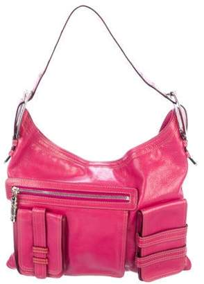 Versace Glazed Leather Hobo