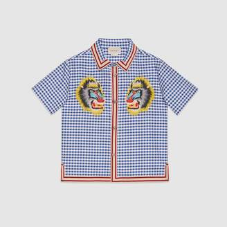 Gucci Children's Oxford shirt with baboons