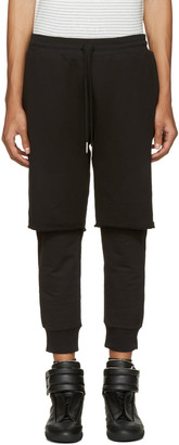 Diesel Black Layered P-Vicente Lounge Pants $180 thestylecure.com