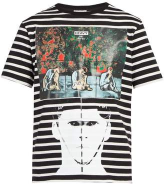 J.W.Anderson X Gilbert & George Print Striped T Shirt - Mens - Black
