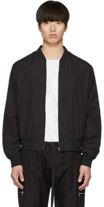 Stella McCartney Black Embroidered Logo Bomber Jacket
