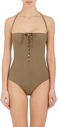 On The Island Women's Lacing-Accented One-Piece Swimsuit