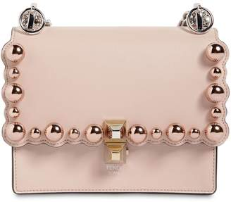 Fendi Small Kan I Scalloped Beads Leather Bag