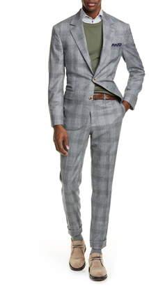 Brunello Cucinelli Glen Plaid Wool Suit