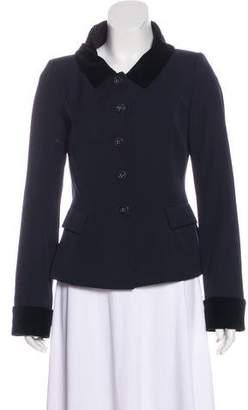 Pauw Wool Velvet-Trimmed Blazer