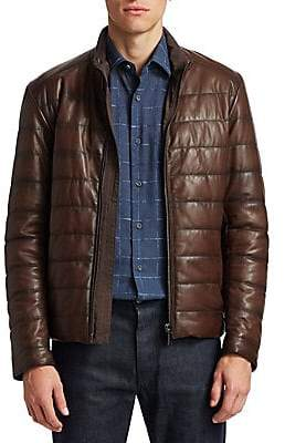 Saks Fifth Avenue Men's COLLECTION Quilted Leather Jacket