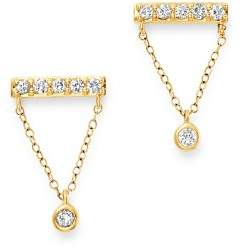 Bloomingdale's Diamond Chain Bar Earring in 14K Yellow Gold, 0.36 ct. t.w. - 100% Exclusive