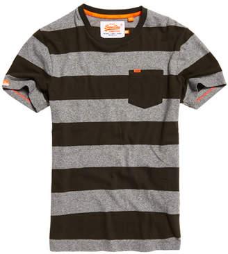 Superdry Orange Label Stripe Pocket T-Shirt