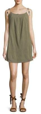 Joie Muted Striped Cotton Shift Dress