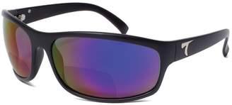 Typhoon Men's Harbor Ii Reader +2.5 Polarized Square Sunglasses Matte Black 72.0 mm